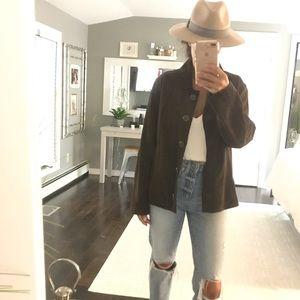 J. Jill brown leather jacket XS